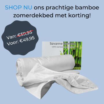 Bamboe dekbed aanbieding